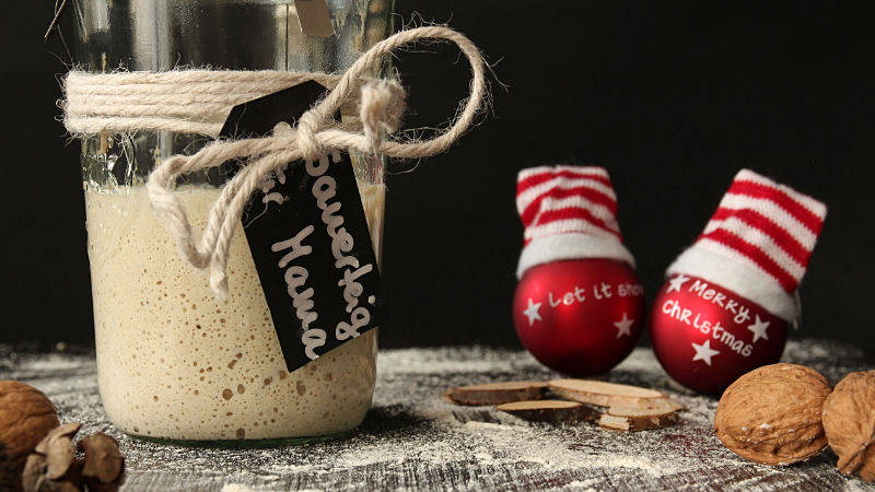 Sauerteig als Weihnachtsgeschenk