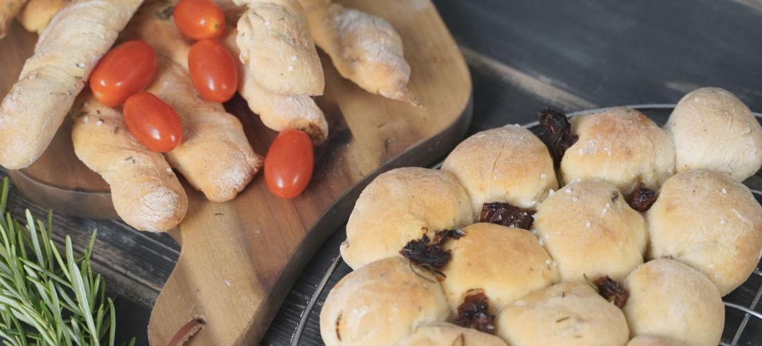 Focaccia Sticks und Bubble Bread